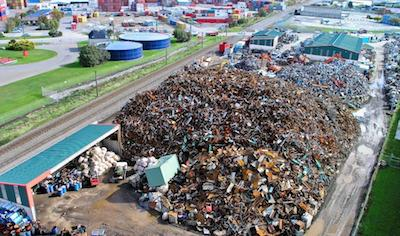 Resource's metal recycling yard